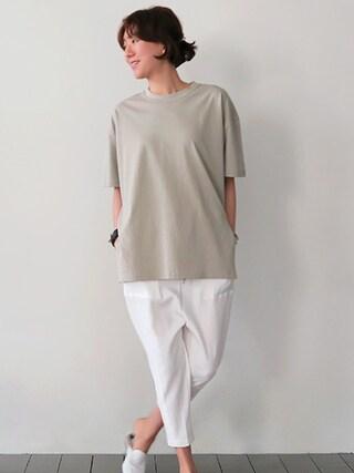 Littleblack|LITTLEBLACKさんの「アンバランスルーズ半袖Tシャツ(littleblack|リトルブラック)」を使ったコーディネート