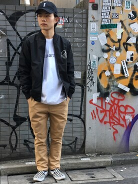 DOUBLE STEAL harajuku|Kaiさんの「DOUBZ  6panel CAP(DOUBLE STEAL)」を使ったコーディネート
