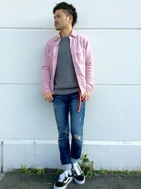 VENCE EXCHANGE imaiさんのシャツ/ブラウス「サマーコールウェスタンシャツ                  (VENCEEXCHANGE ヴァンスエクスチェンジ)」を使ったコーディネート