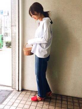URBAN RESEARCH DOORS DOORS WOMENSさんのシャツ/ブラウス「DOORS バッククロススキッパーシャツ(URBAN RESEARCH DOORS WOMENS アーバンリサーチ ドアーズ ウィメンズ)」を使ったコーディネート