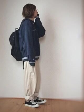はなこ**さんの「フワ太コールバギーパンツ【niko and ...】(niko and...|ニコアンド)」を使ったコーディネート