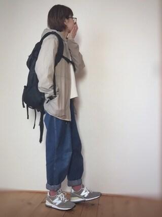 はなこ**さんの「コットンゴクアツポケットT7分袖【niko and...】(niko and...|ニコアンド)」を使ったコーディネート