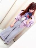「袖フリルTシャツ(one after another NICE CLAUP)」 using this AYANO looks