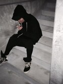 「Rick Owens Panelled Leather High-Top Sneakers(Rick Owens)」 using this 山 looks