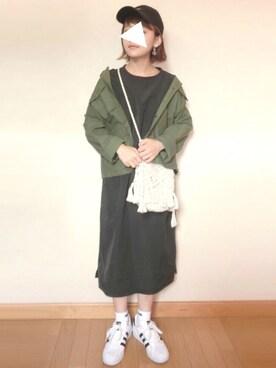 chicchimoさんの「WEGO/コットン巾着ショルダーバッグ(WEGO|ウィゴー)」を使ったコーディネート