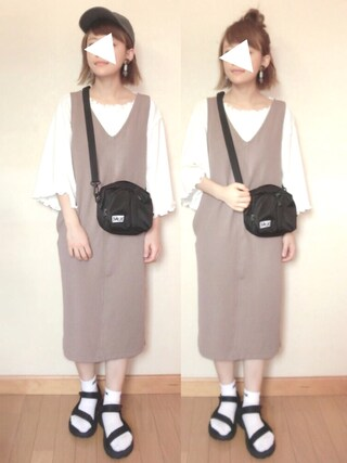 「TWIN POCKET SHOULDER BAG(X-girl)」 using this chicchimo looks