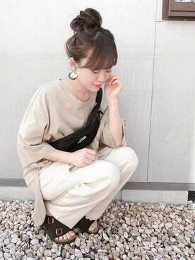 chicchimoさんの「18SS新作◆ZURICH/チューリッヒ ソフトフットベッド スエードレザー(WOMEN)(BIRKENSTOCK|ビルケンシュトック)」を使ったコーディネート