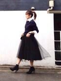 LUMIEさんの「【GLOW 1月号掲載】【CLASSY. 12月号掲載】【STORY 10月号掲載】 Couture-line(クチュールライン)ミラノリブニットパンツセットアップ(nano・universe|ナノユニバース)」を使ったコーディネート