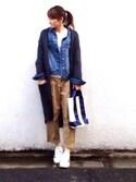 LUMIEさんの「オリジナルス スーパースター80s[SS 80s](adidas originals アディダスオリジナルス)」を使ったコーディネート
