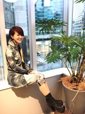 ROYAL FLASH 池袋|Kanako Sugitaさんの(CINZIA ARAIA|チンツィア アライア)を使ったコーディネート