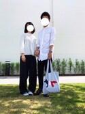 ごんさんの「GIFT/ 2リングラリエットチョーカーブラック【niko and ...】(niko and...|ニコアンド)」を使ったコーディネート