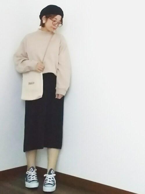 yakkoさんの「強撚ニットロングスカート(coen)」を使ったコーディネート