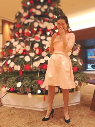 猪鼻ちひろさんの「【平子理沙】総レースパーティー ワンピース ドレス(結婚式や二次会などのシーン)(DRESS LAB|ドレスラボ)」を使ったコーディネート