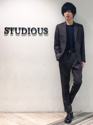 STUDIOUS MENS ルミネエスト新宿店|みっきーさんの「STA-PREST POLYESTER TWILL / ROLLING DOWN 3B NOTCHED LAPEL JACKET(MR.OLIVE|ミスターオリーブ)」を使ったコーディネート