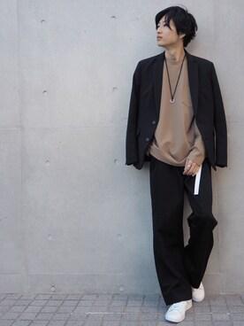 STUDIOUS MENS ルミネエスト新宿店|みっきーさんのテーラードジャケット「STUDIOUS マルチストレッチキューダステーラードジャケット(STUDIOUS|ステュディオス)」を使ったコーディネート