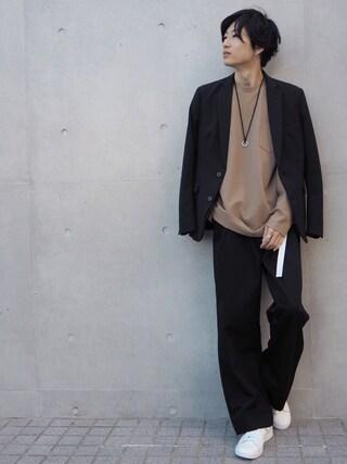 STUDIOUS MENS ルミネエスト新宿店|みっきーさんの「STUDIOUS マルチストレッチキューダステーラードジャケット(STUDIOUS|ステュディオス)」を使ったコーディネート