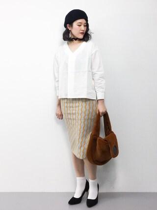 ZOZOTOWN|ハマアイさんの「Leia blouse(LAYMEE|レイミー)」を使ったコーディネート