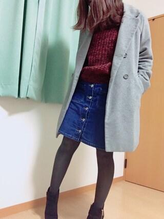 葵さんの「フロントボタンミニスカート 712785(LOWRYS FARM|ローリーズ ファーム)」を使ったコーディネート