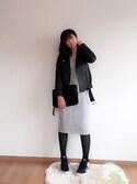Asunaさんの「レザーライダースジャケット(snidel スナイデル)」を使ったコーディネート