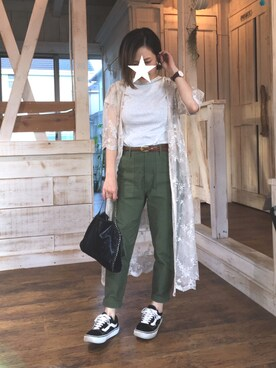 me☆さんの「バックサテン ベイカーパンツ_#(JOURNAL STANDARD relume|ジャーナルスタンダード レリューム)」を使ったコーディネート