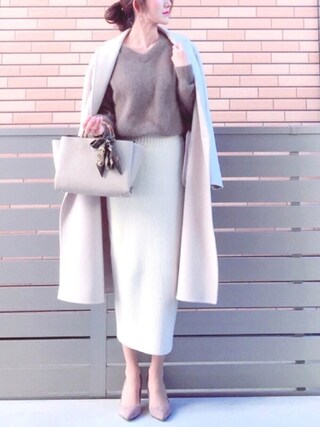 「□UWMF W W/BTN リバーコート↑(UNITED ARROWS)」 using this honon looks