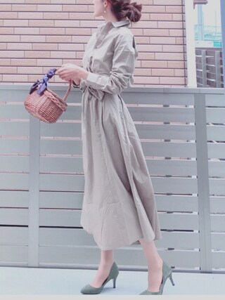 「DOORS サッシュベルト付きワンピース(URBAN RESEARCH DOORS WOMENS)」 using this honon looks
