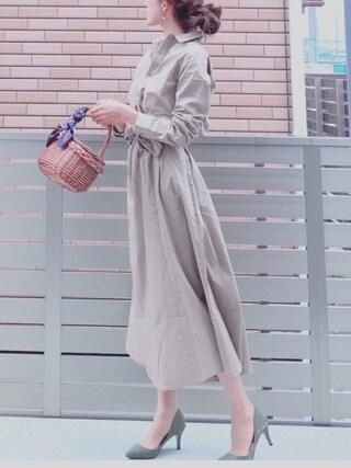 「DOORS サッシュベルト付きワンピース(URBAN RESEARCH DOORS WOMENS)」 using this honon looks