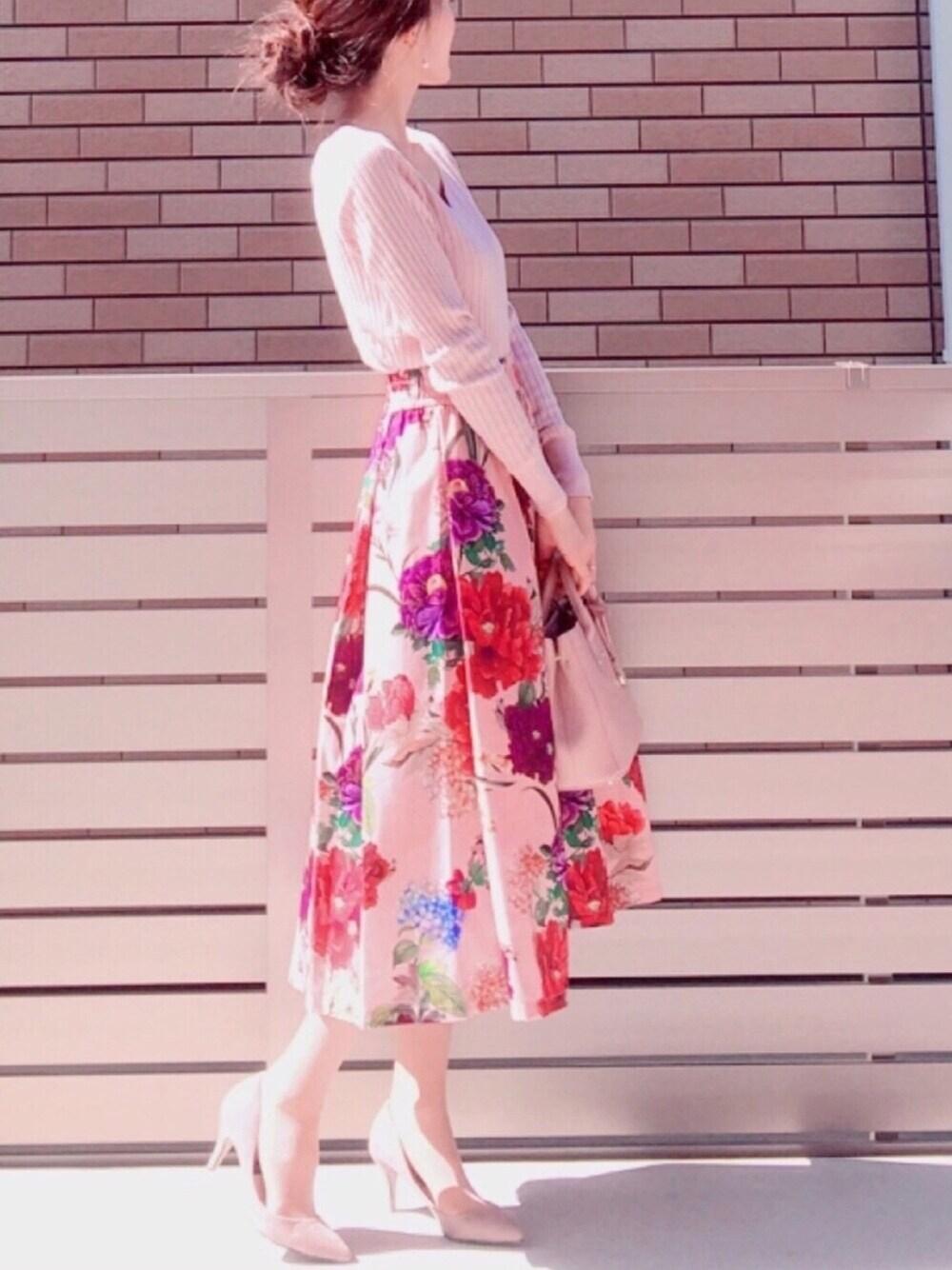 オールミレニアムピンク×ボタニカルな花柄