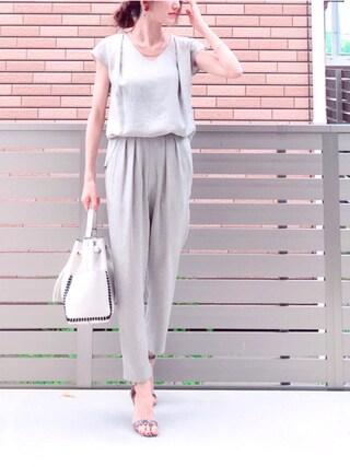 「【CLASSY.コラボセットアップ】 リネン見えセットアップ(TONAL)」 using this honon looks
