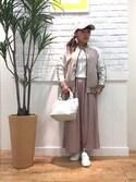 JUNKOさんの「キャンバスミニトートバッグ(SHOO・LA・RUE|シューラルー)」を使ったコーディネート