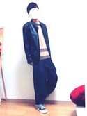 NISHIさんの「PUレザーシングルライダース(ZIP FIVE|ジップファイブ)」を使ったコーディネート