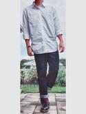 TaKuMiさんの「オックスフォードシャツ(長袖)(ユニクロ)」を使ったコーディネート