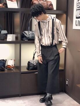 ZIP FIVE Matsuさんの「長袖オープンカラーシャツ(ZIP FIVE)」を使ったコーディネート
