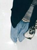 nayumiさんの「ラムクルーネックセーター(UNIQLO|ユニクロ)」を使ったコーディネート