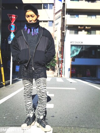 MIDWEST TOKYO MEN AKKYさんの(HAIDER ACKERMANN ハイダー アッカーマン)を使ったコーディネート