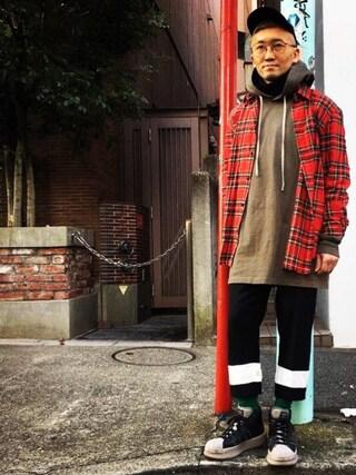MIDWEST TOKYO MEN|AKKYさんの(Rick Owens|リックオウエンス)を使ったコーディネート