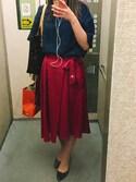 きんめさんの「【sweet10月号掲載】アシンメトリーヘムリボンスカート(ROPE' PICNIC)」を使ったコーディネート