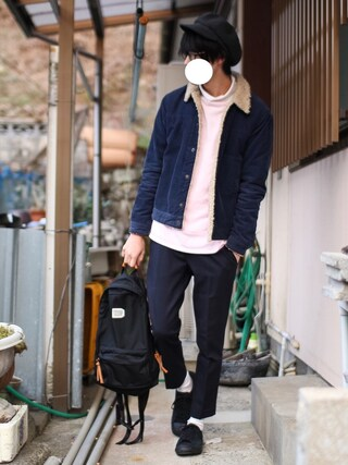Qさんの「CONVERSE JACK PURSELL SUEDE(ABAHOUSE アバハウス)」を使ったコーディネート