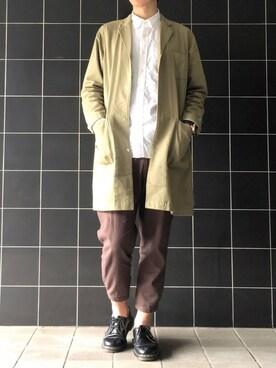 げんさんの「(GU)オックスフォードシャツ(長袖)(GU|ジーユー)」を使ったコーディネート