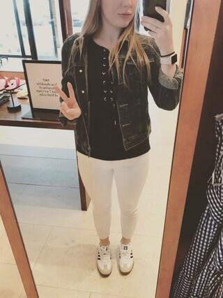 「Petite Women's J.crew Lookout High Rise Crop Jeans(J.Crew)」 using this Kristen Heard looks