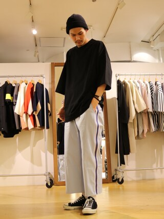 「【1sin/イッシン】 COOLMAXビーニー(Lui's)」 using this Lui's 池袋店|downey looks