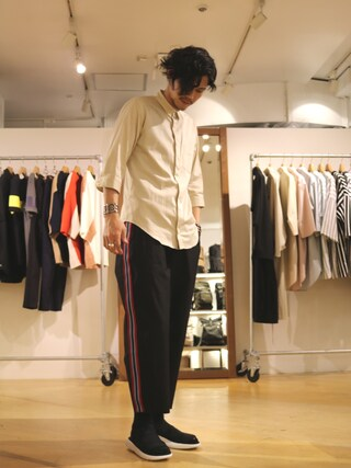 「7分袖シャツ(Lui's)」 using this Lui's 池袋店|downey looks