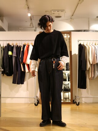 「Lui's(ルイス) 7分袖BIGTシャツ(Lui's)」 using this Lui's 池袋店|downey looks