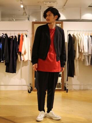 「7分袖BIG Tシャツ(Lui's)」 using this Lui's 池袋店|downey looks