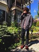 tomOKiさんの「カラーリングロングガチャベルト(MONO-MART)(MONO-MART|モノマート)」を使ったコーディネート