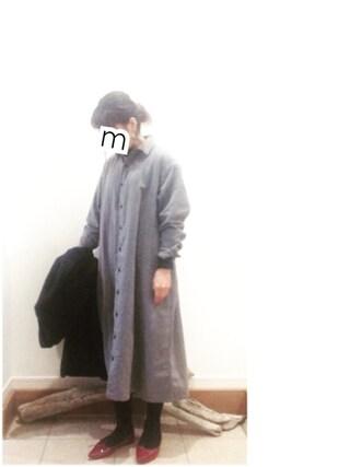 ru_nuunさんの「メルトンテーラードコート(Flammeum|フラミューム)」を使ったコーディネート