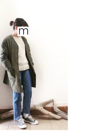 ru_nuunさんの「ナカワタキルティングコート 742767(LOWRYS FARM|ローリーズ ファーム)」を使ったコーディネート