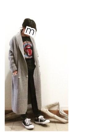 ru_nuunさんの「モヘヤタッチニットロングガウン【niko and ...】(niko and...|ニコアンド)」を使ったコーディネート