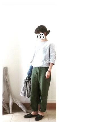 ru_nuunさんの「ベイカーパンツ(THE SHINZONE|ザ シンゾーン)」を使ったコーディネート