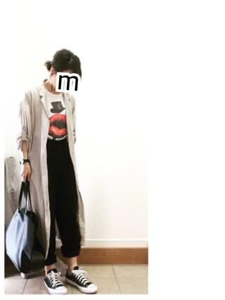ru_nuunさんの「≪予約≫【金子綾×FRAMeWORK】センタープレス ベイカーパンツ◆(FRAMeWORK|フレームワーク)」を使ったコーディネート
